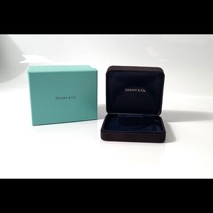 Tiffany Velvet Watch Jewelry Box & Blue Gift Box
